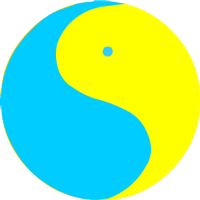 THE SYMBOL YIN'-YAN'. Symbol of Sofia the Wise. It symbolizes the Unity of Two Origins, Two Worlds, two opposite Principles